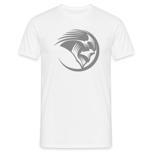 Men's T-Shirt - Phantoms white t-shirt with large silver glitter printed roundel on the front. Red Phantoms Sledge Hockey logo across the shoulders & small logo on each sleeve in silver glitter print.