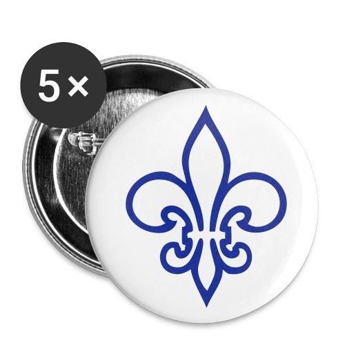 Louan Buttons Mittel Lilie blau - Buttons mittel 32 mm