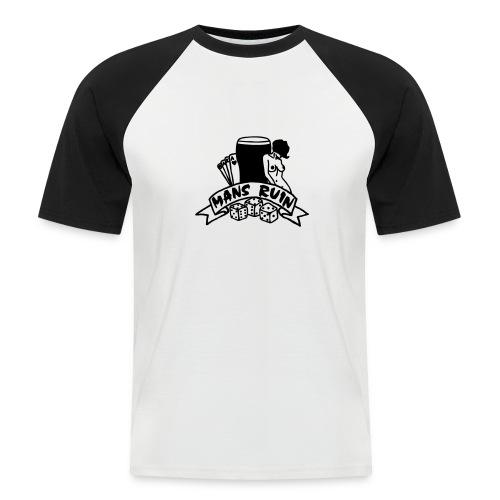 Mans Ruin PinUp Girl Sex Drugs Rock'n'Roll - Männer Baseball-T-Shirt