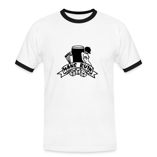 Mans Ruin PinUp Girl Sex Drugs Rock'n'Roll - Männer Kontrast-T-Shirt