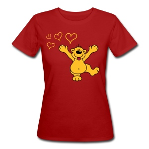 LOVE BEAR - T-shirt ecologica da donna