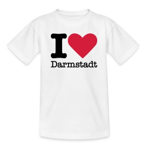 I Love Darmstadt - Teenager T-Shirt