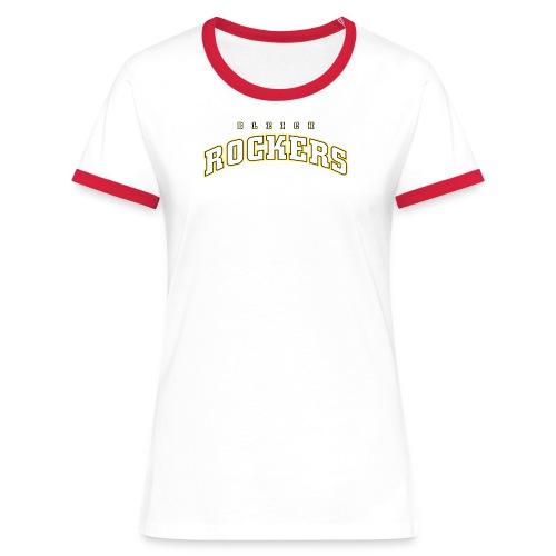 Bleichrockers Damen Kontrast - Frauen Kontrast-T-Shirt