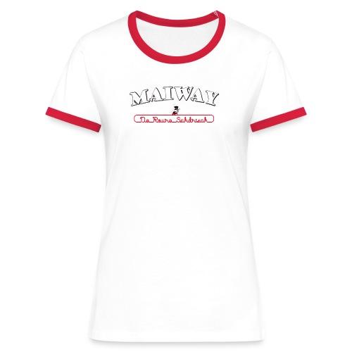 Maiway Damen Kontrast - Frauen Kontrast-T-Shirt