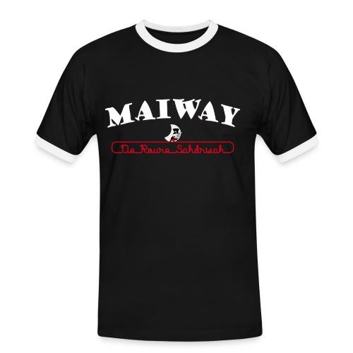 Maiway Herren Kontrast - Männer Kontrast-T-Shirt
