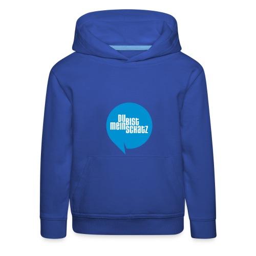 Mein Schatz-Pulli Kind • Blau - Kinder Premium Hoodie