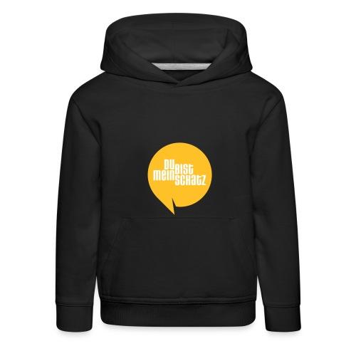 Mein Schatz-Pulli Kind • Gelb - Kinder Premium Hoodie