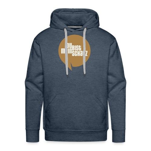Mein Schatz-Pulli Mann • Braun - Männer Premium Hoodie