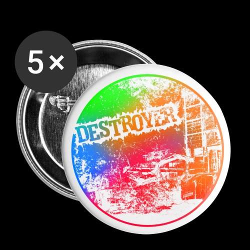Destroyer - Lot de 5 petits badges (25 mm)