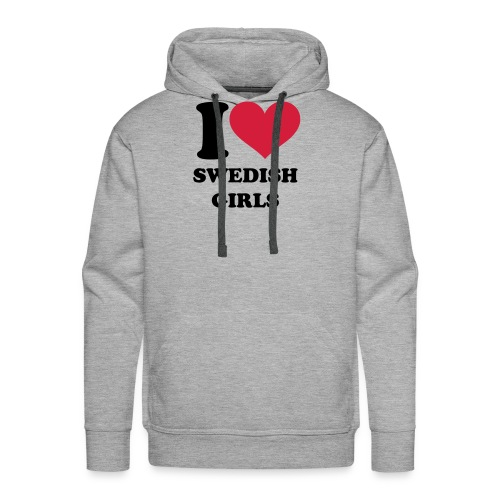 I Love Swedish Girls - Männer Premium Hoodie