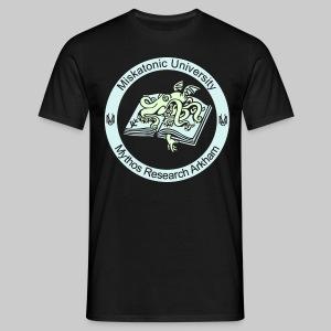 MTEv2: Miskatonic University - Mythos Research Arkham (Emblem) - (glow in the dark) - Men's T-Shirt
