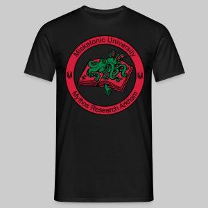 MTEv1: Miskatonic University - Mythos Research Arkham (Emblem)  - Men's T-Shirt