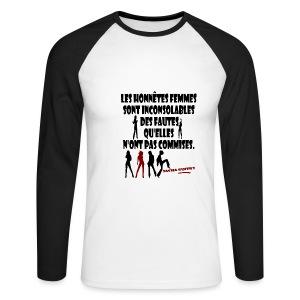 Honnêtes femmes... - T-shirt baseball manches longues Homme