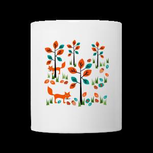 tasse, herbst im wald - Tasse