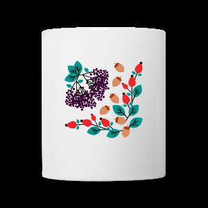 tasse, herbstfrüchte - Tasse