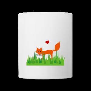 tasse, retro, der wiesenfuchs - Tasse