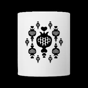 tasse, granat liebesapfel, schwarz-weiss - Tasse