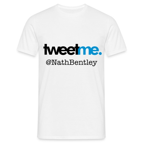 Tweet me. @(Username) - Men's T-Shirt