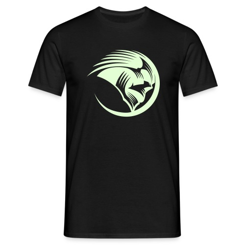 Men's T-Shirt - Mens classic white t-shirt with Phantoms roundel on the chest in day glow green.