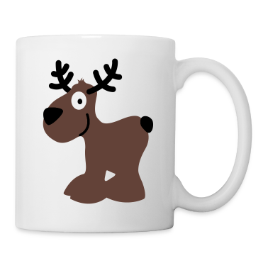 cute moose caribou reindeer deer christmas norway rudolph rudolf winter scandinavia canada smile eyes Mugs