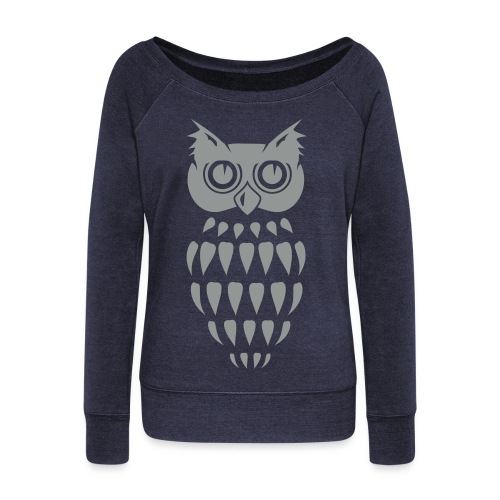 hoot hoot. - Women's Boat Neck Long Sleeve Top
