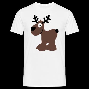 carino cervi alci caribù renna rudolf rudolph natale norvegia scandinavia inverno canada sorriso occhi T-shirt