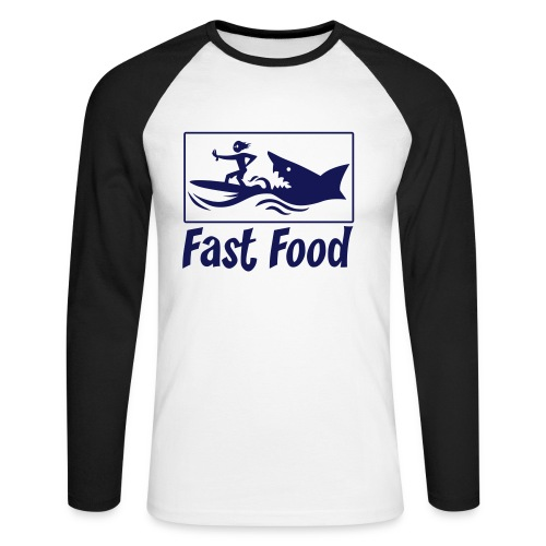 Fast food - T-shirt baseball manches longues Homme