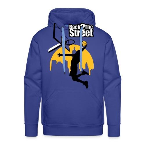 Back 2 the street - Sweat-shirt à capuche Premium pour hommes