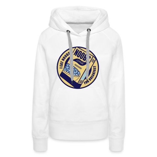 Cereal For 'Noobs' Hoodie for Girls - Women's Premium Hoodie