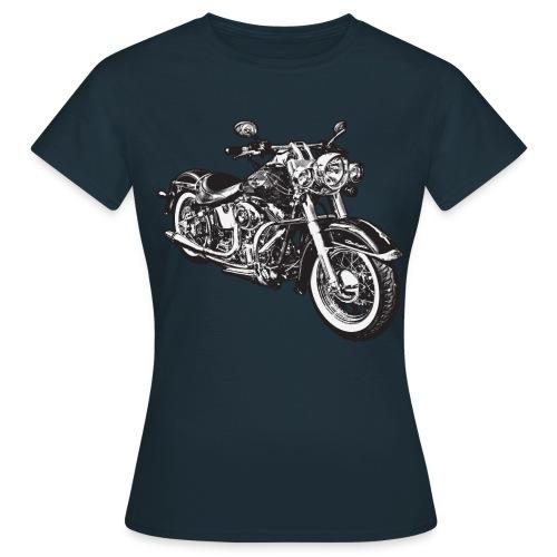 Vintage Motorcycle Shirt for Girls - Women's T-Shirt