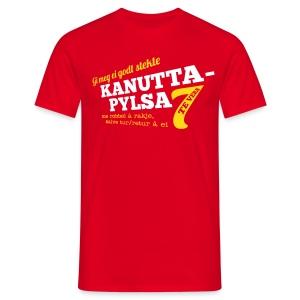 Kanuttapylsa rød - T-skjorte for menn