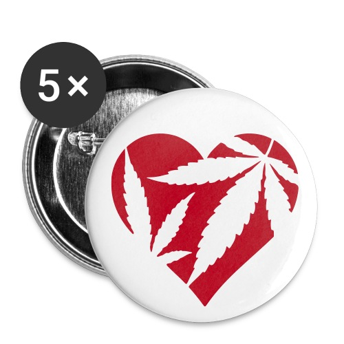 Heart Badge - Buttons small 1''/25 mm (5-pack)