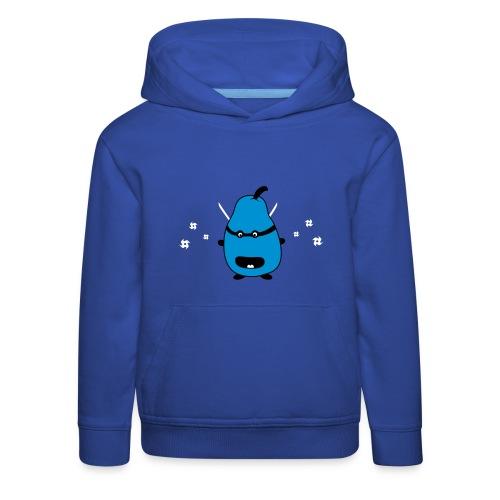 Funny Ninja Pear Lasten puserot - Kinder Premium Hoodie