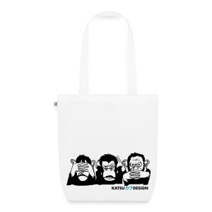 Three wise apes - Bio-Stoffbeutel