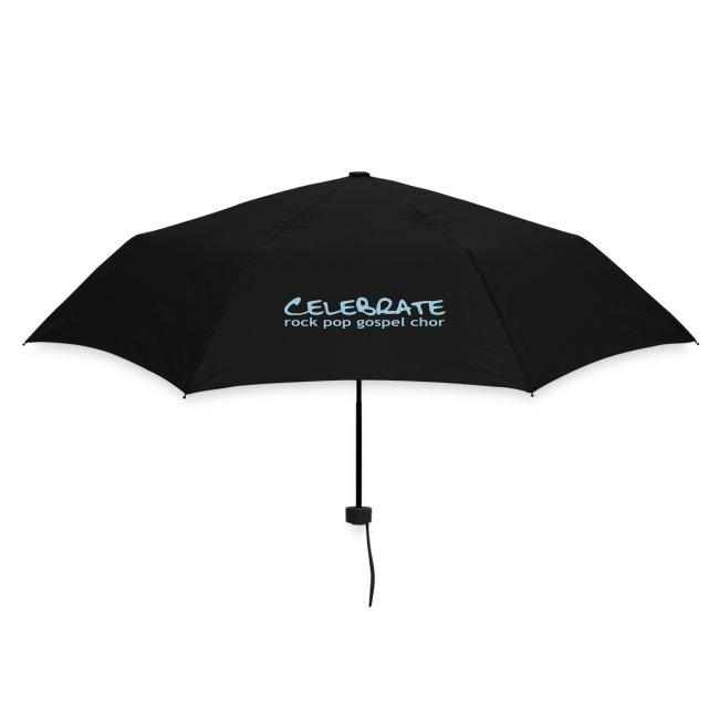 Regenschirm mit Celebrate-Logo