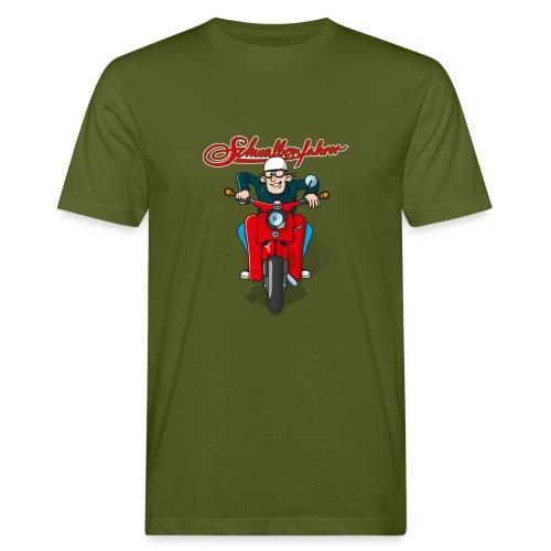 Schwalbenfahrer Comic-Shirt Klimaneutral - Männer Bio-T-Shirt