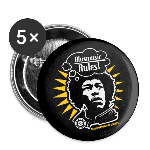 Blasmusic Rules Buttons mittel - Buttons mittel 32 mm