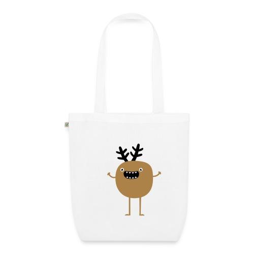 Funny Christmas Reindeer ( hirvi) Laukut - Bio-Stoffbeutel