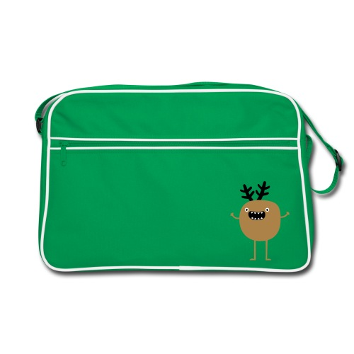 Funny Christmas Reindeer ( hirvi) Laukut - Retro Tasche