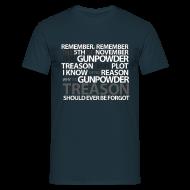 T-skjorter ~ T-skjorte for menn ~ Vendetta. Remember remember, the 5th of November.