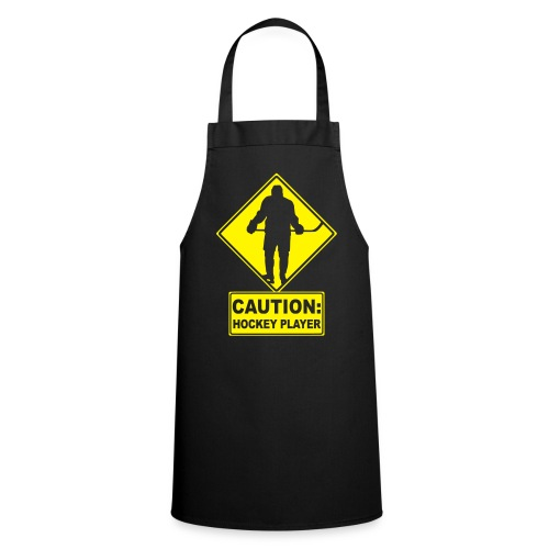 'CAUTION: Hockey Player' Apron - Cooking Apron