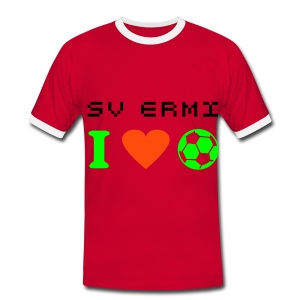 I Love Football Shirt - Männer Kontrast-T-Shirt