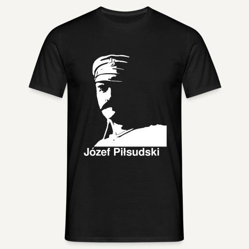 Józef Piłsudski z podpisem - Koszulka męska