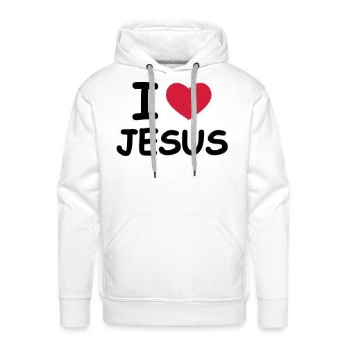 Männer Kaputzenpullover I love Jesus - Männer Premium Hoodie