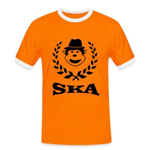 Affen Ska - Männer Kontrast-T-Shirt