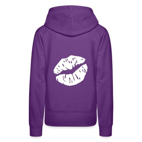 kiss me - Sweat-shirt à capuche Premium pour femmes