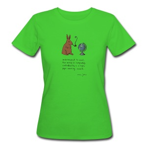 Pipe smoking rabbit - Womens colours - Women's Organic T-shirt