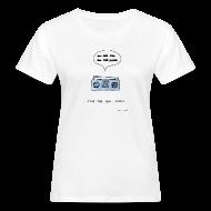 T-Shirts ~ Women's Organic T-shirt ~ Stop the bad music - Women's white tee