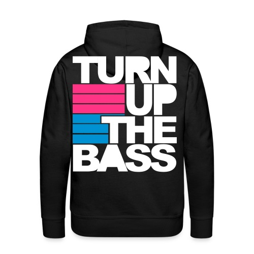 Music Is My Drug/ Turn Up The Bass - Premiumluvtröja herr
