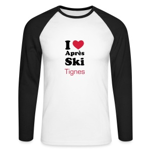 Men's Long Sleeve Baseball T-Shirt - Mens Long sleeve Tee